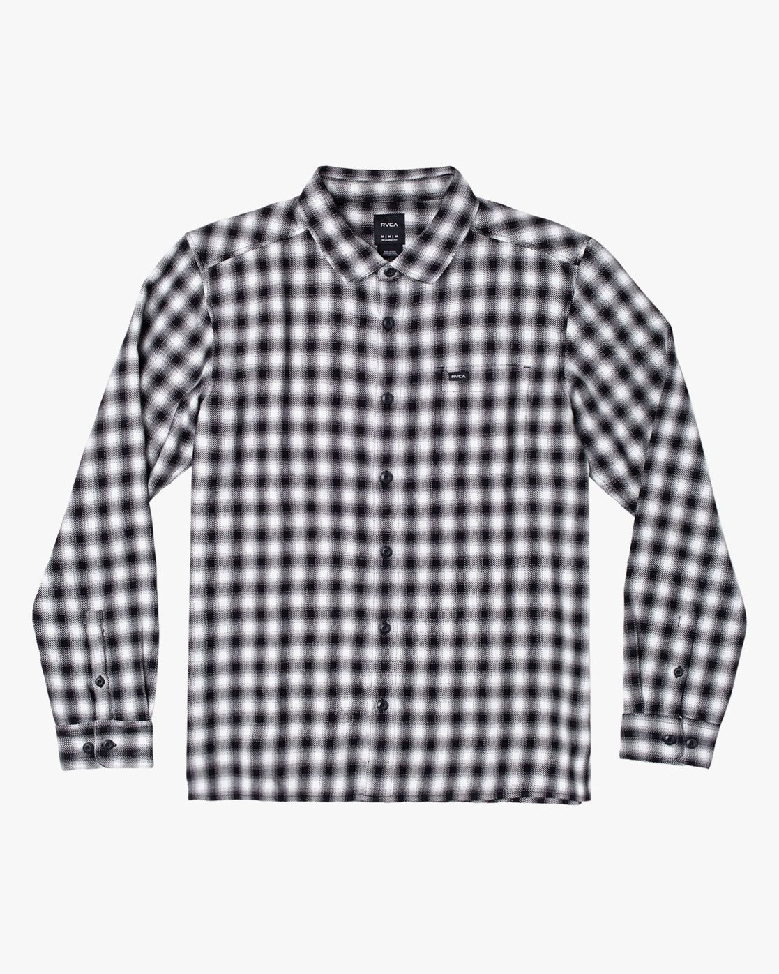 2 TELEGRAPH BUTTON-UP FLANNEL Black M5541RTG RVCA