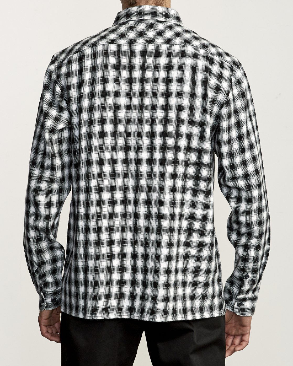 1 TELEGRAPH BUTTON-UP FLANNEL Black M5541RTG RVCA
