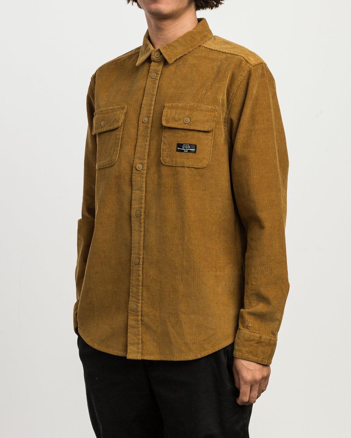 4 Campbell Corduroy Button-Up Shirt  M554SRCA RVCA