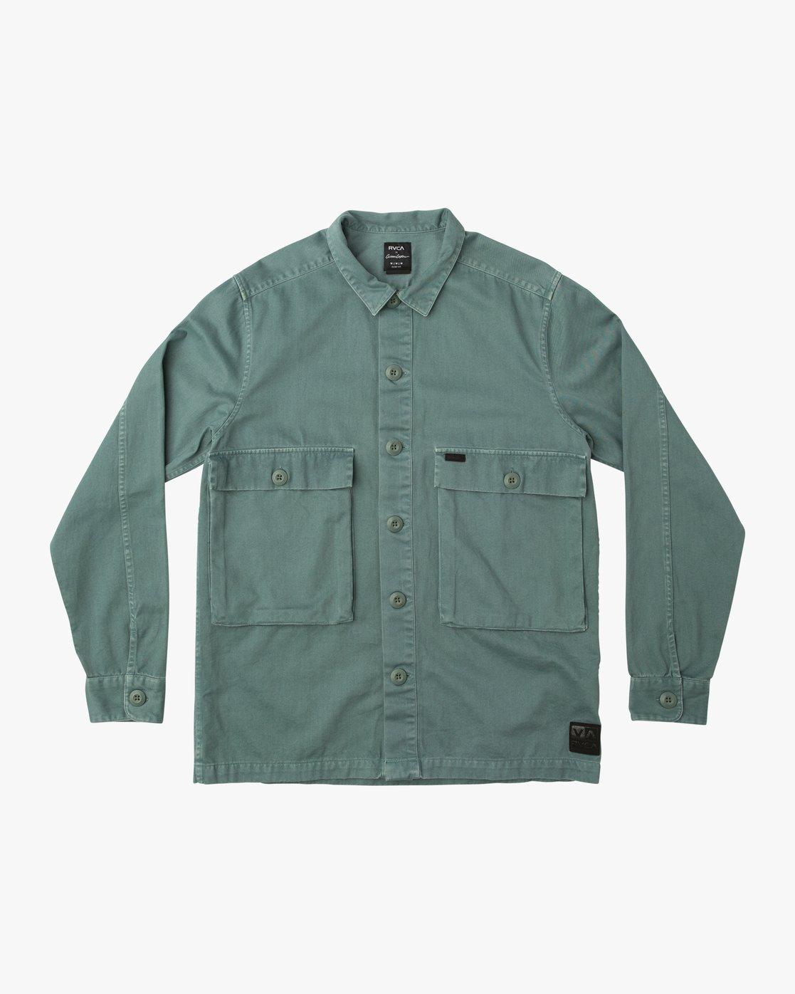 e1710ec738 0 Curren Caples All Day Shirt Green M555QRAL RVCA