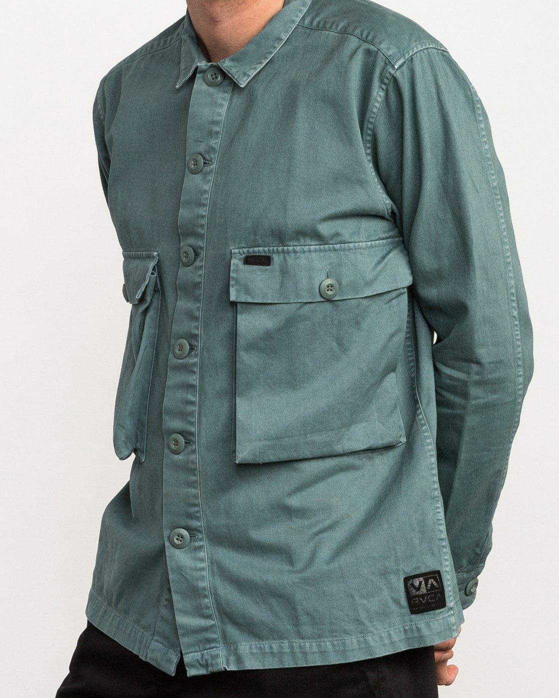 04699ebdbb 4 Curren Caples All Day Shirt Green M555QRAL RVCA