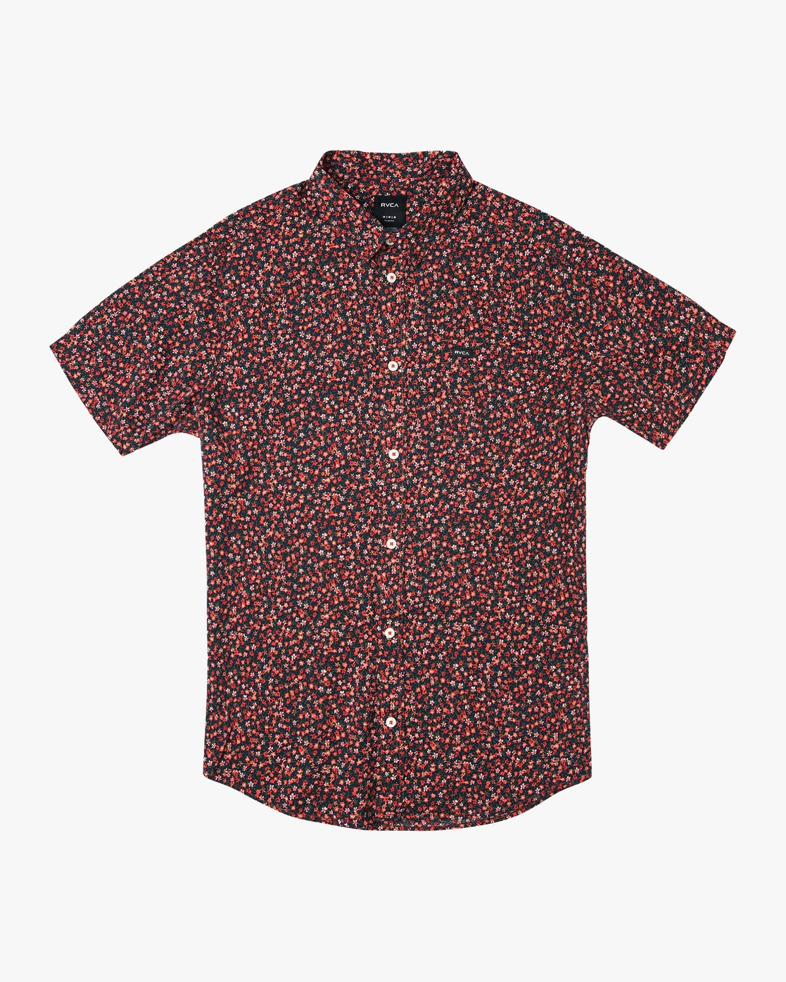 0 Revivalist Floral Button-Up Shirt Red M556URRF RVCA