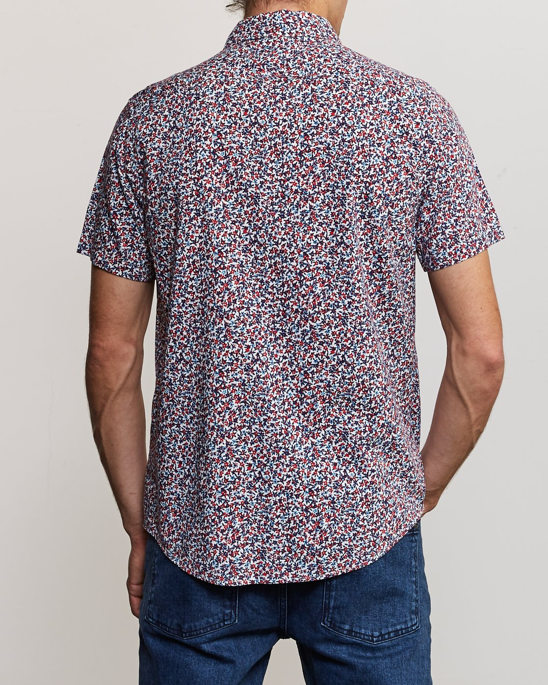 3 Revivalist Floral Button-Up Shirt White M556URRF RVCA