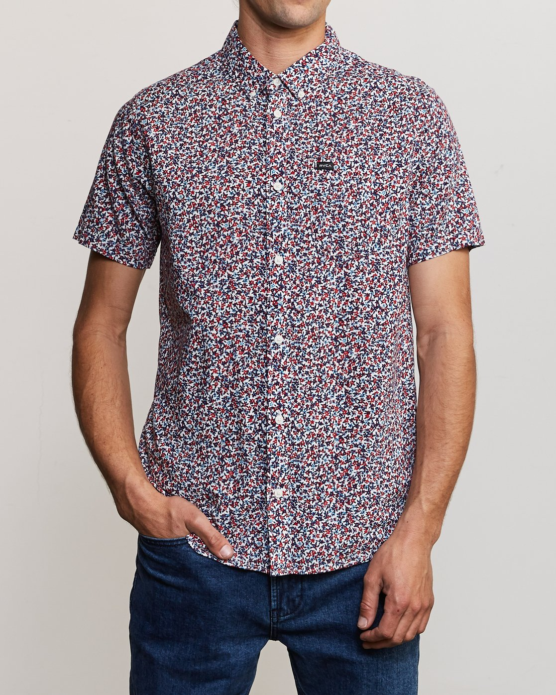 1 Revivalist Floral Button-Up Shirt White M556URRF RVCA