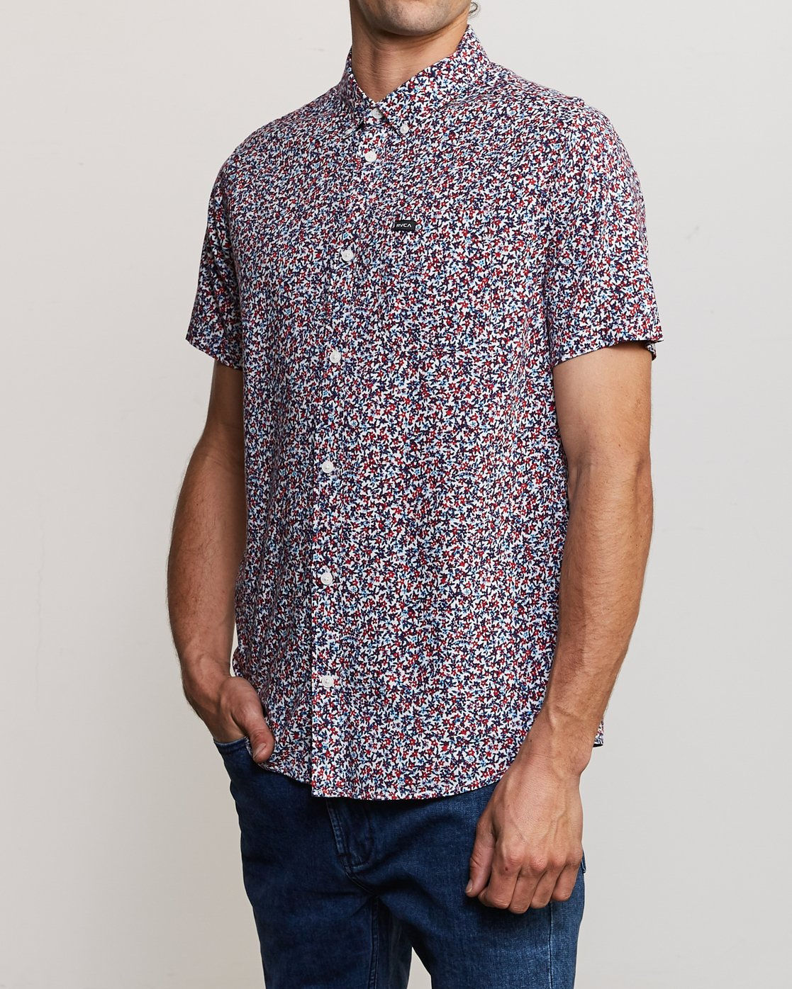 2 Revivalist Floral Button-Up Shirt White M556URRF RVCA