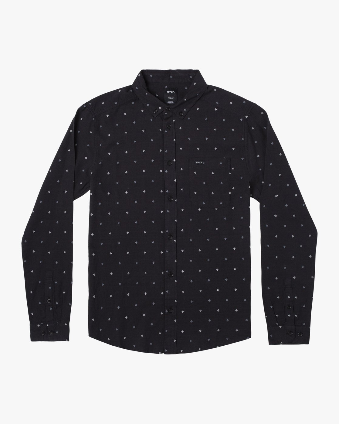 1 THATLL DO DOBBY LONG SLEEVE SHIRT Black M556WRDE RVCA