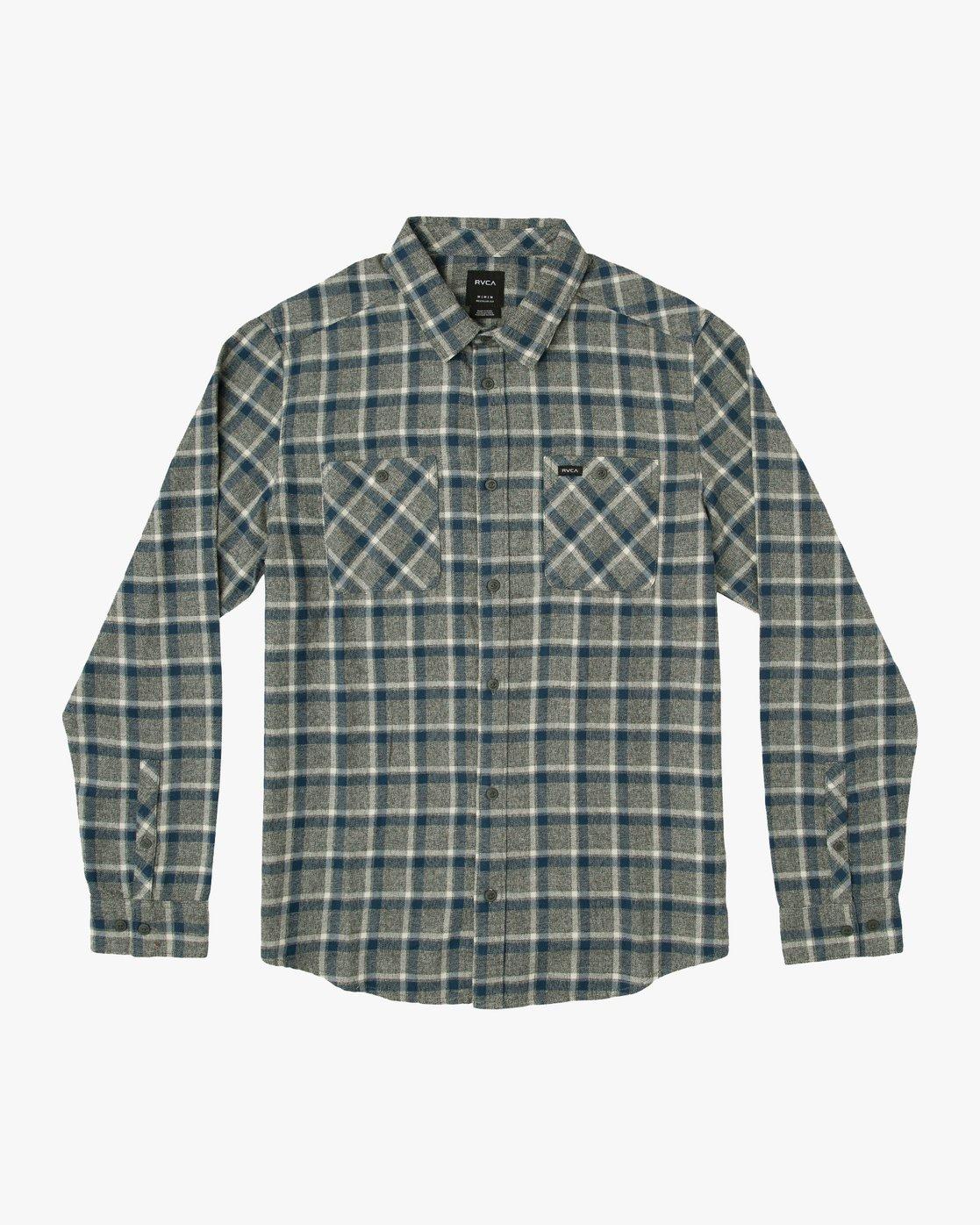 0 Hero Plaid Button-Up Shirt Black M557SRHE RVCA