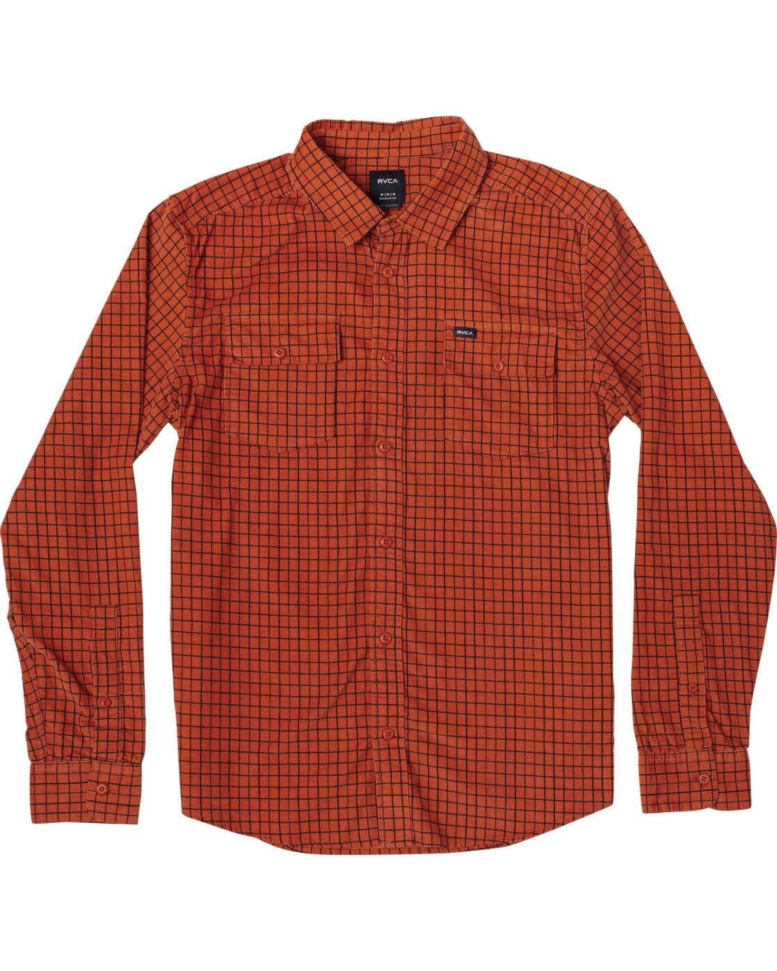 0 FREEMAN CORD LONG SLEEVE SHIRT Red M5583RFC RVCA
