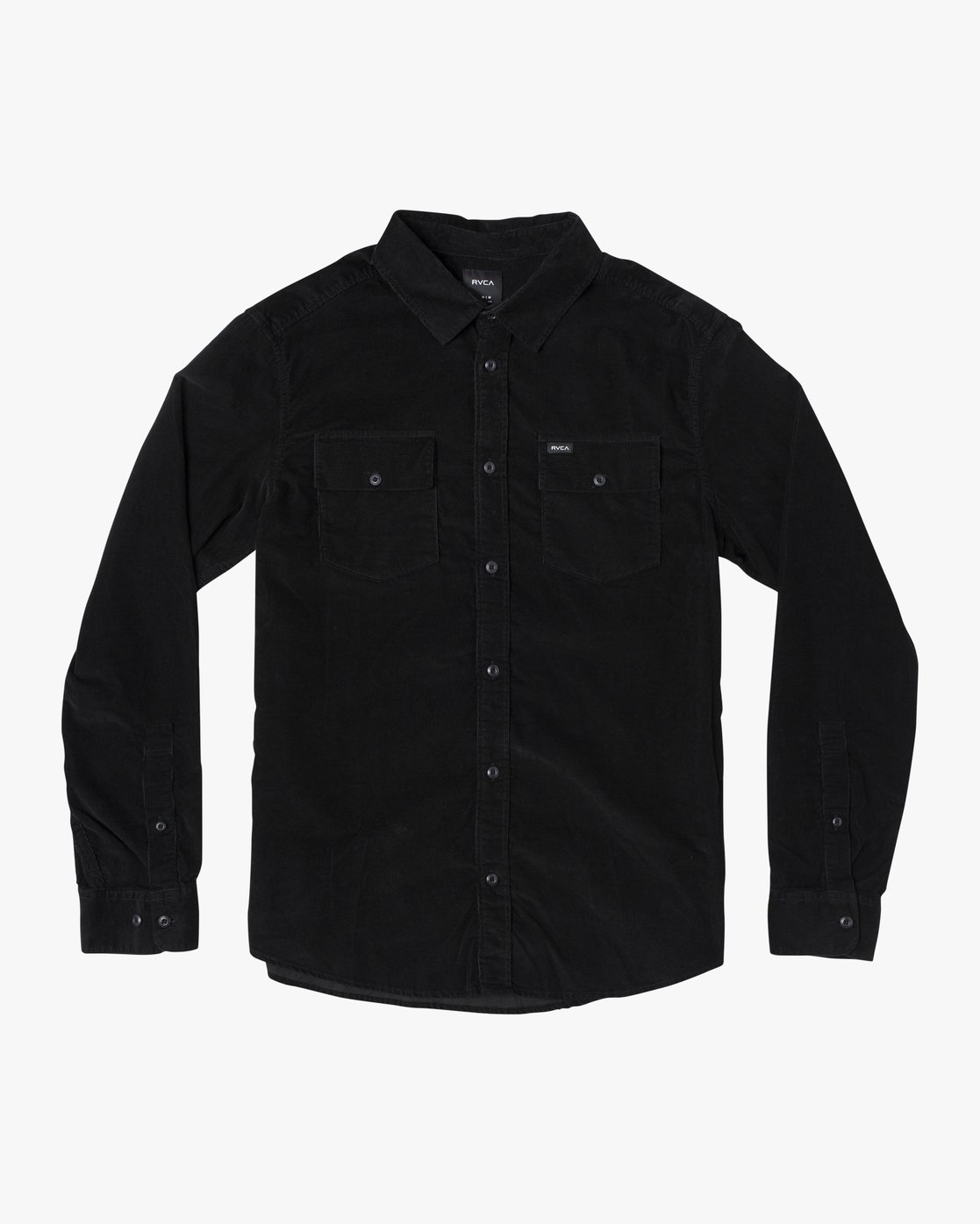 4 FREEMAN CORD LONG SLEEVE SHIRT Black M5583RFC RVCA