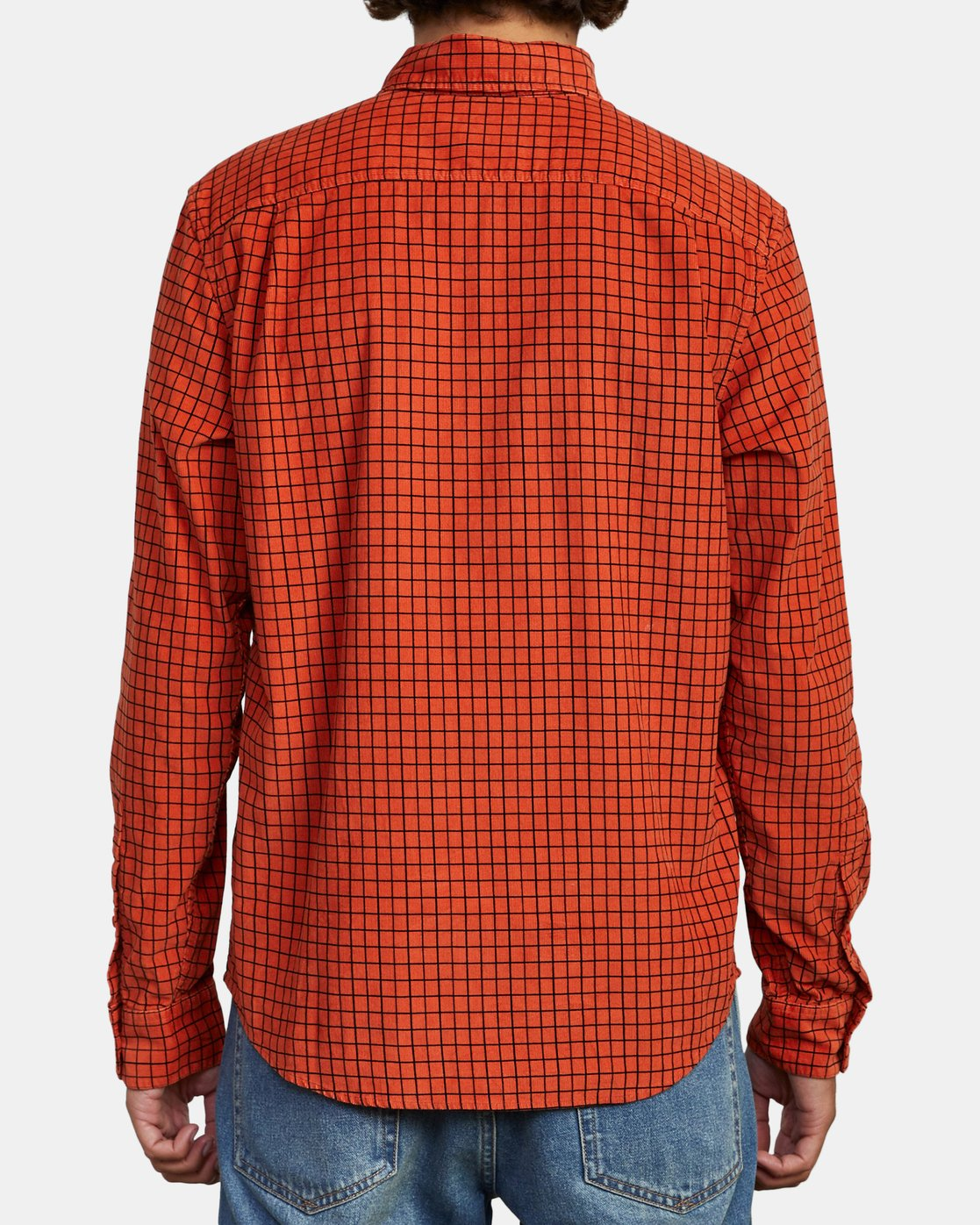 3 FREEMAN CORD LONG SLEEVE SHIRT Red M5583RFC RVCA