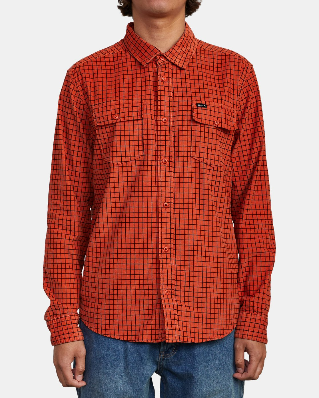 1 FREEMAN CORD LONG SLEEVE SHIRT Red M5583RFC RVCA