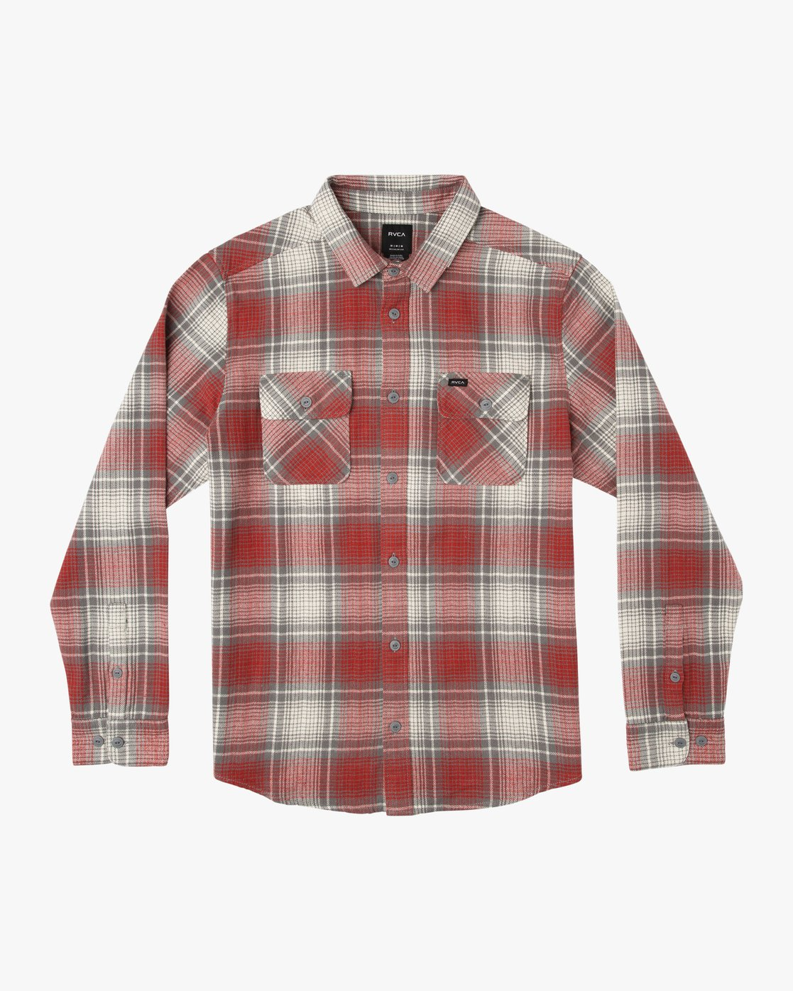 0 High Plains Plaid Flannel Grey M558SRHP RVCA