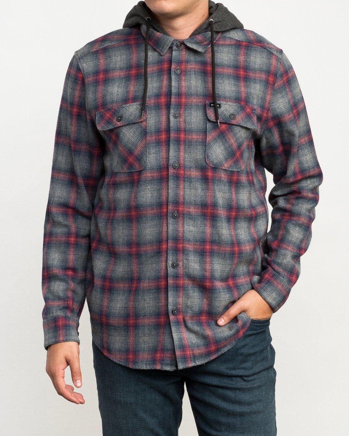 1 Christian Fletcher Good Hombre Flannel Grey M560QRGO RVCA