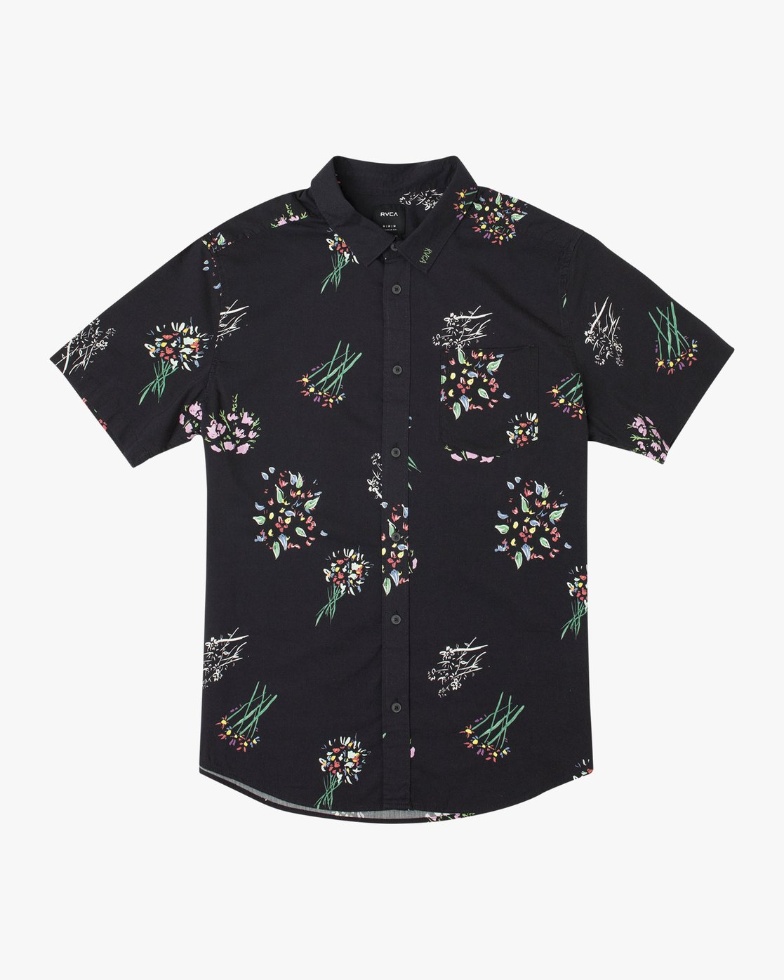 0 AR Lottie Flowers Button-Up Shirt Black M561URAL RVCA