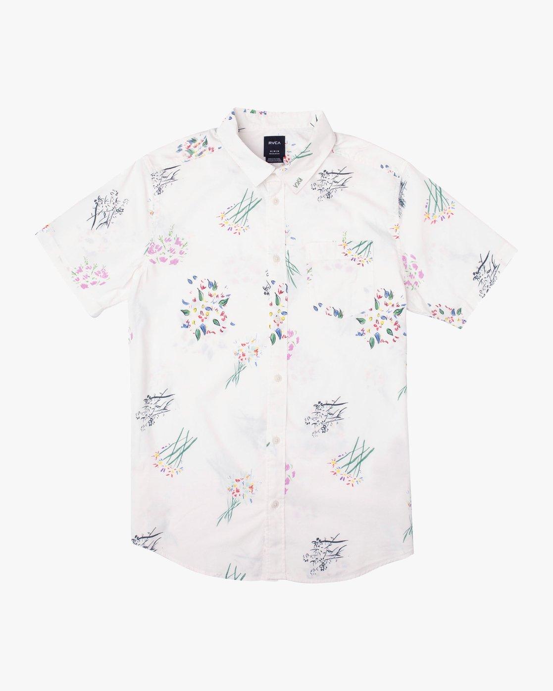 4 AR Lottie Flowers Button-Up Shirt White M561URAL RVCA