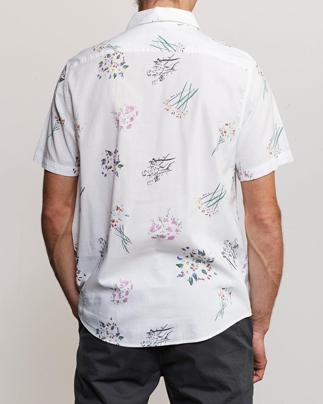 1 AR Lottie Flowers Button-Up Shirt White M561URAL RVCA