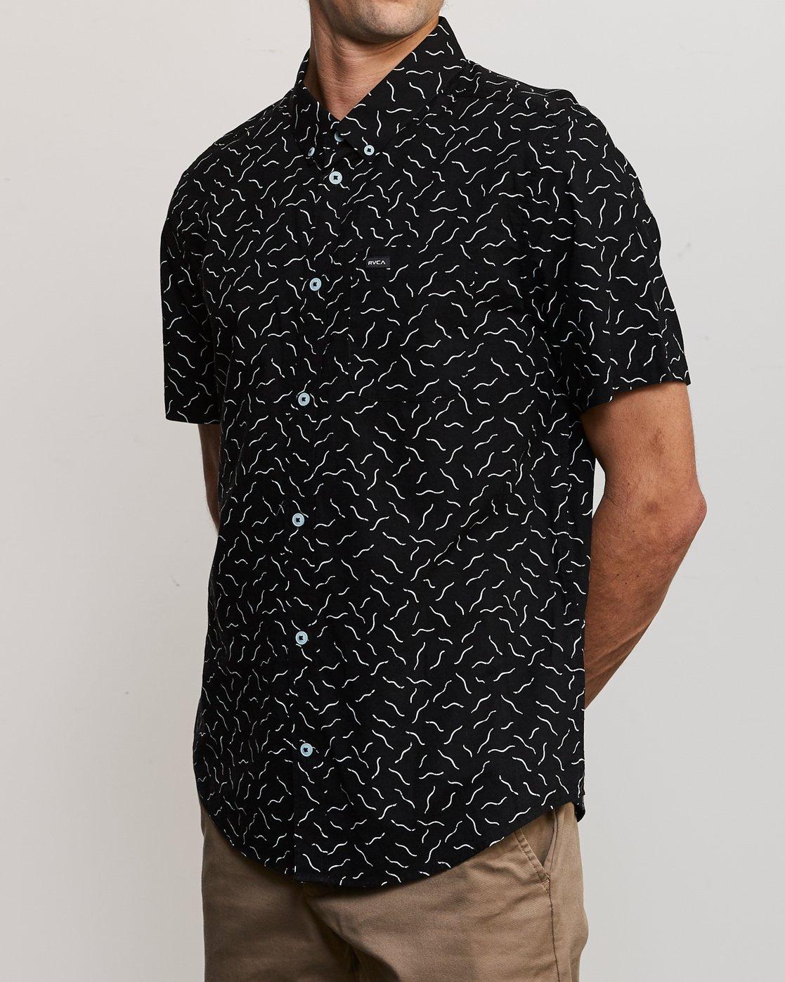 3 ANP Pack Button-Up Shirt Black M561URPP RVCA