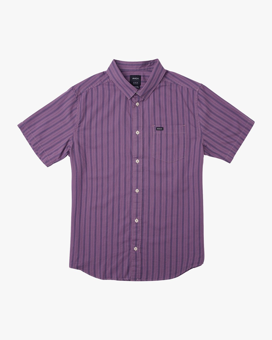 0 Shuffle Stripe Button-Up Shirt Purple M564URAS RVCA