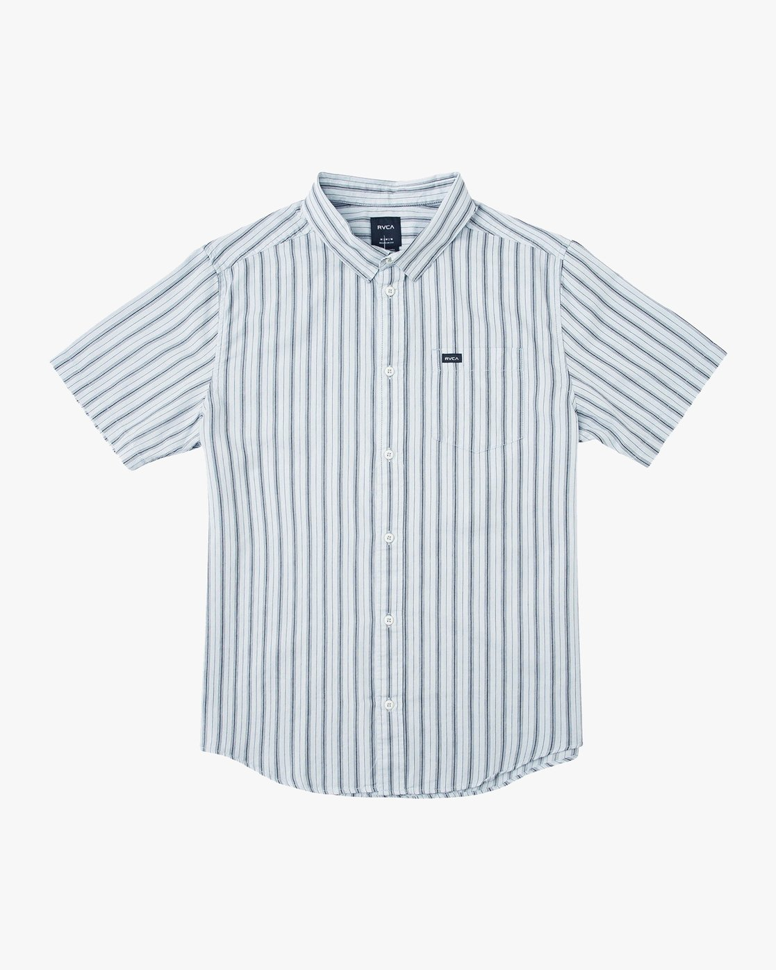 0 Shuffle Stripe Button-Up Shirt Blue M564URAS RVCA