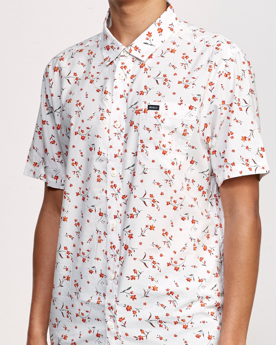 4 Elegie Floral Button-Up Shirt White M565UREF RVCA