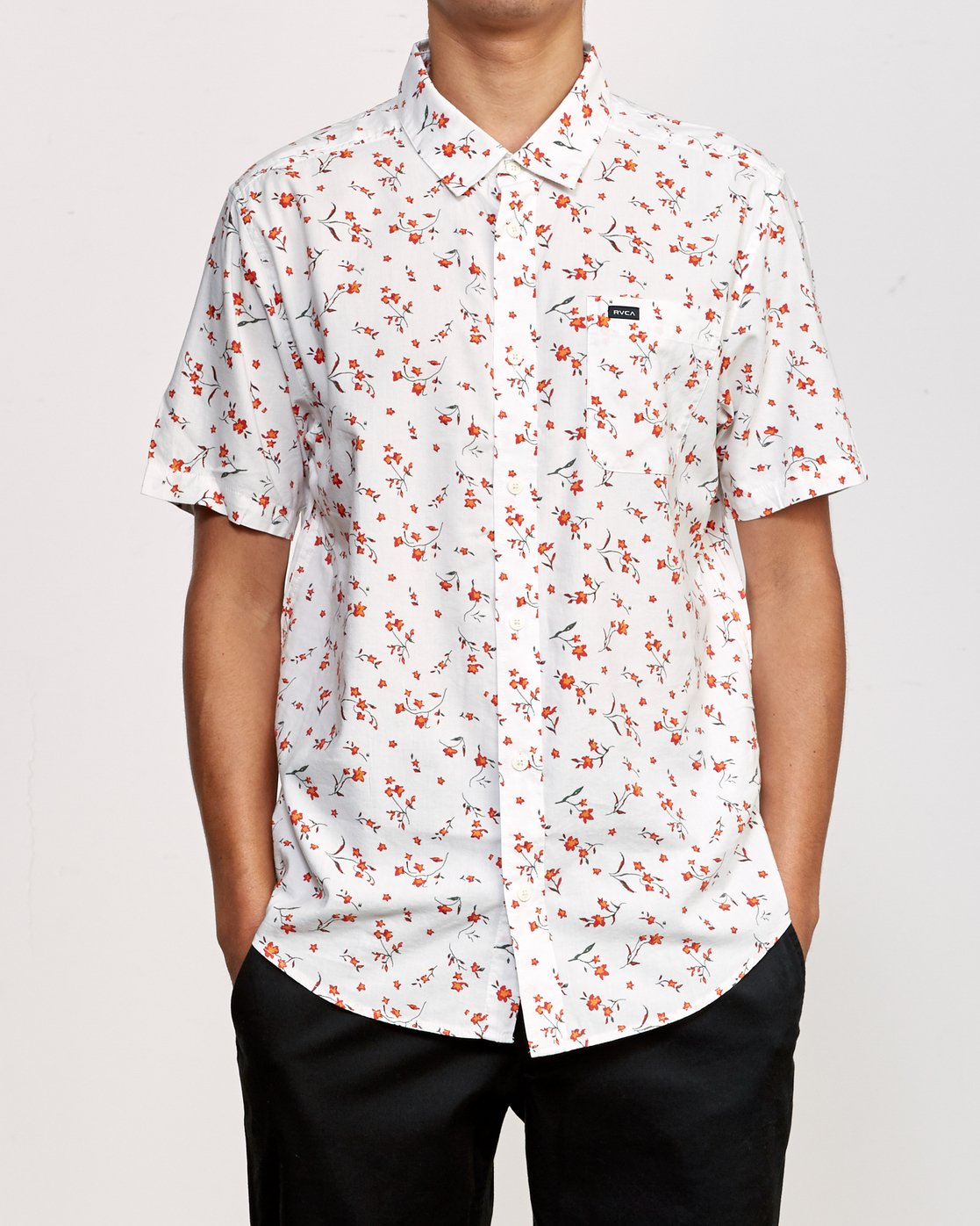 1 Elegie Floral Button-Up Shirt White M565UREF RVCA