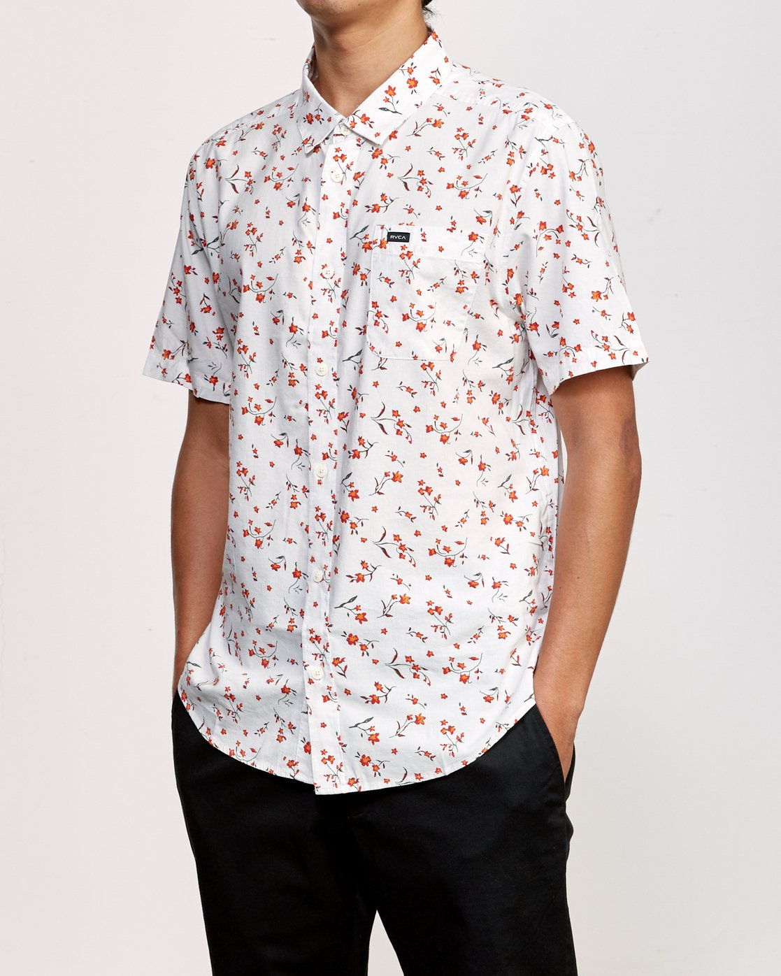 3 Elegie Floral Button-Up Shirt White M565UREF RVCA