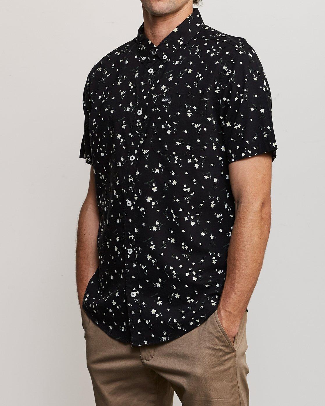 2 Elegie Floral Button-Up Shirt Black M565UREF RVCA