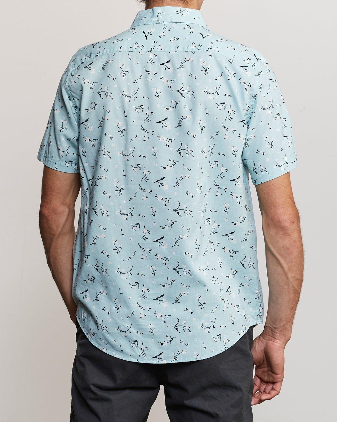 1 Elegie Floral Button-Up Shirt Blue M565UREF RVCA