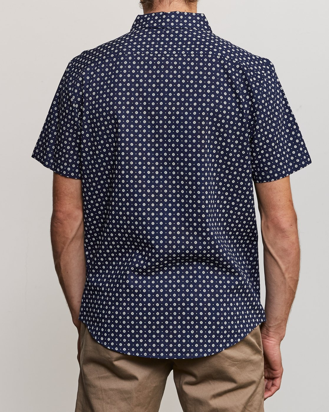 1 Gauze Dot Button-Up Shirt Blue M566URPD RVCA