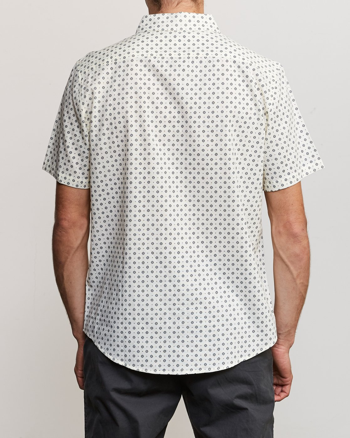 1 Gauze Dot Button-Up Shirt White M566URPD RVCA