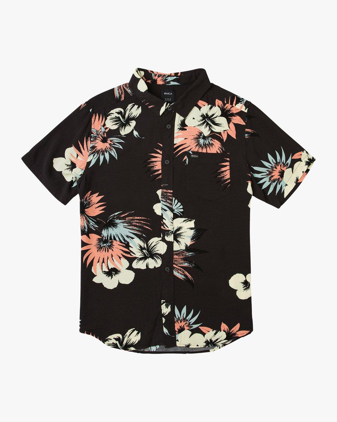 0 Romeo Floral Button-Up Shirt Black M567URRF RVCA