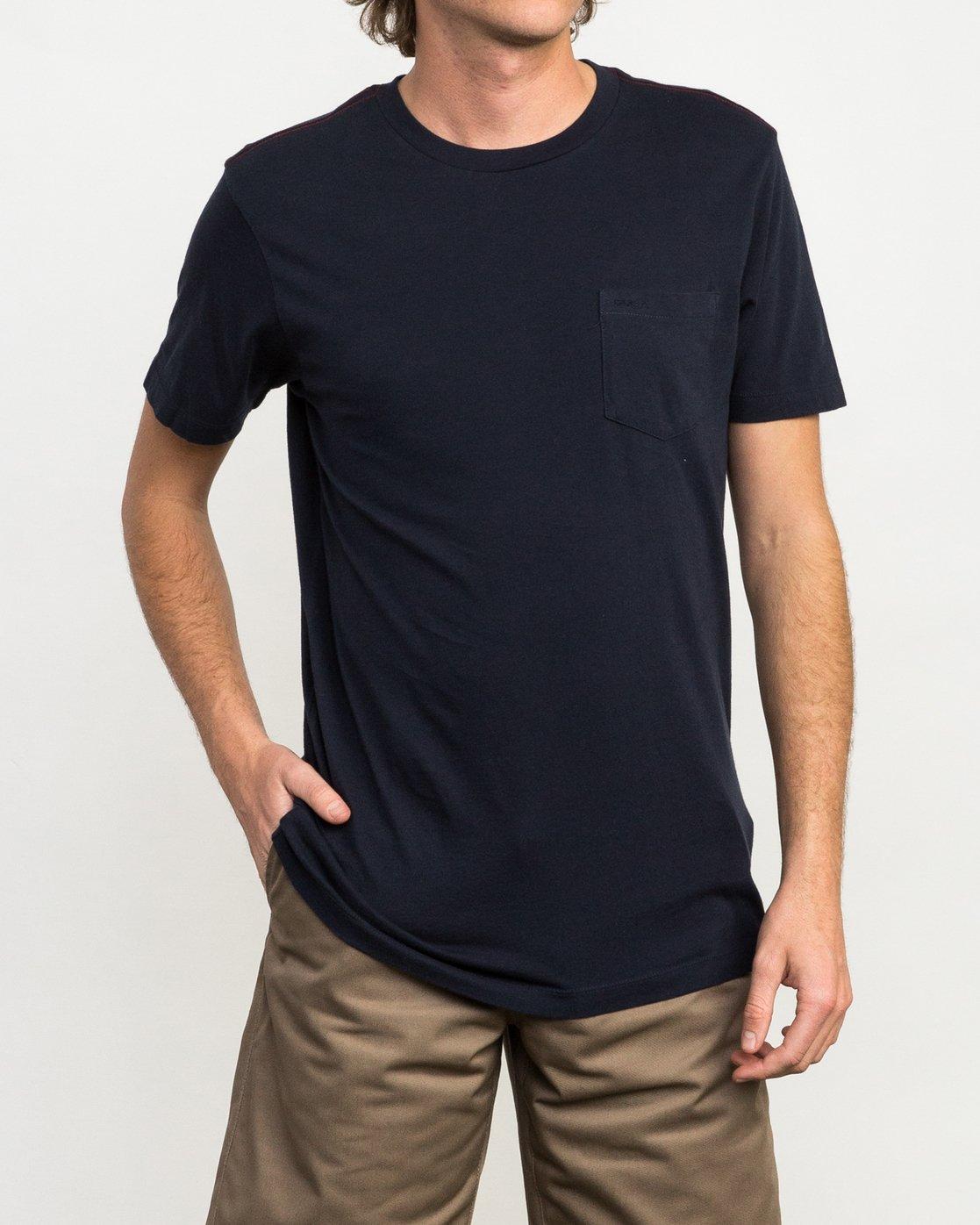 1 PTC 2 T-Shirt Blue M5912PTC RVCA