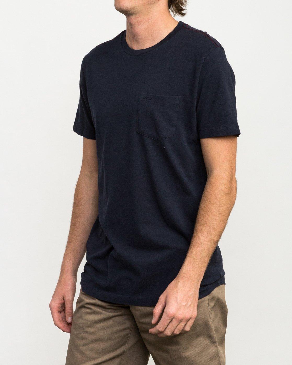 2 PTC 2 T-Shirt Blue M5912PTC RVCA