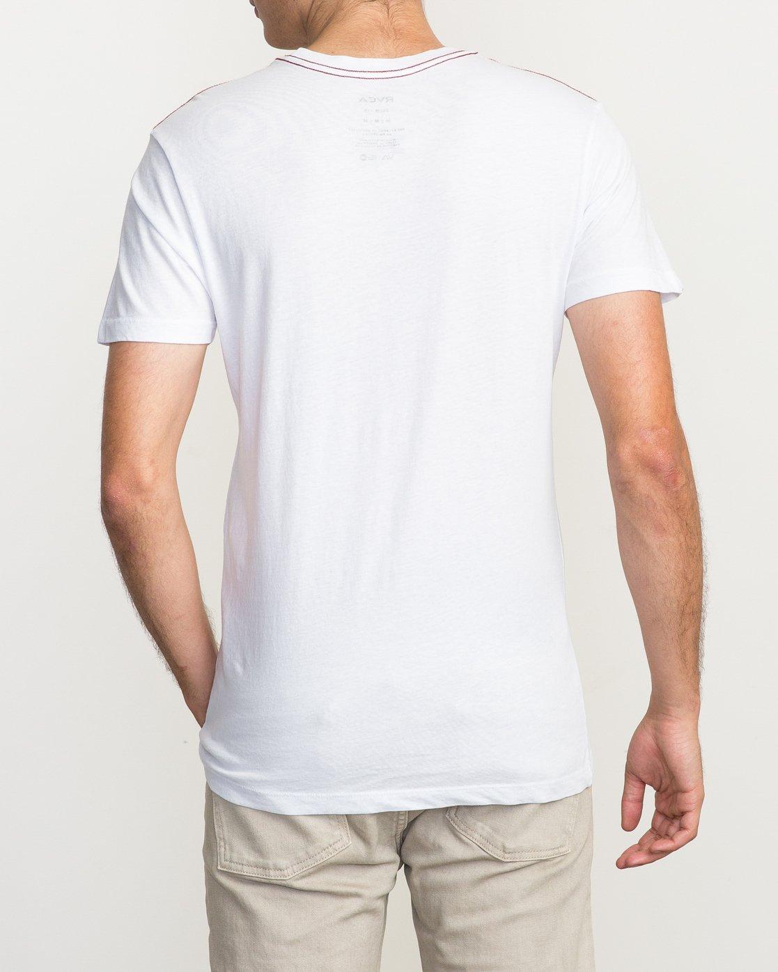 3 PTC 2 T-Shirt White M5912PTC RVCA