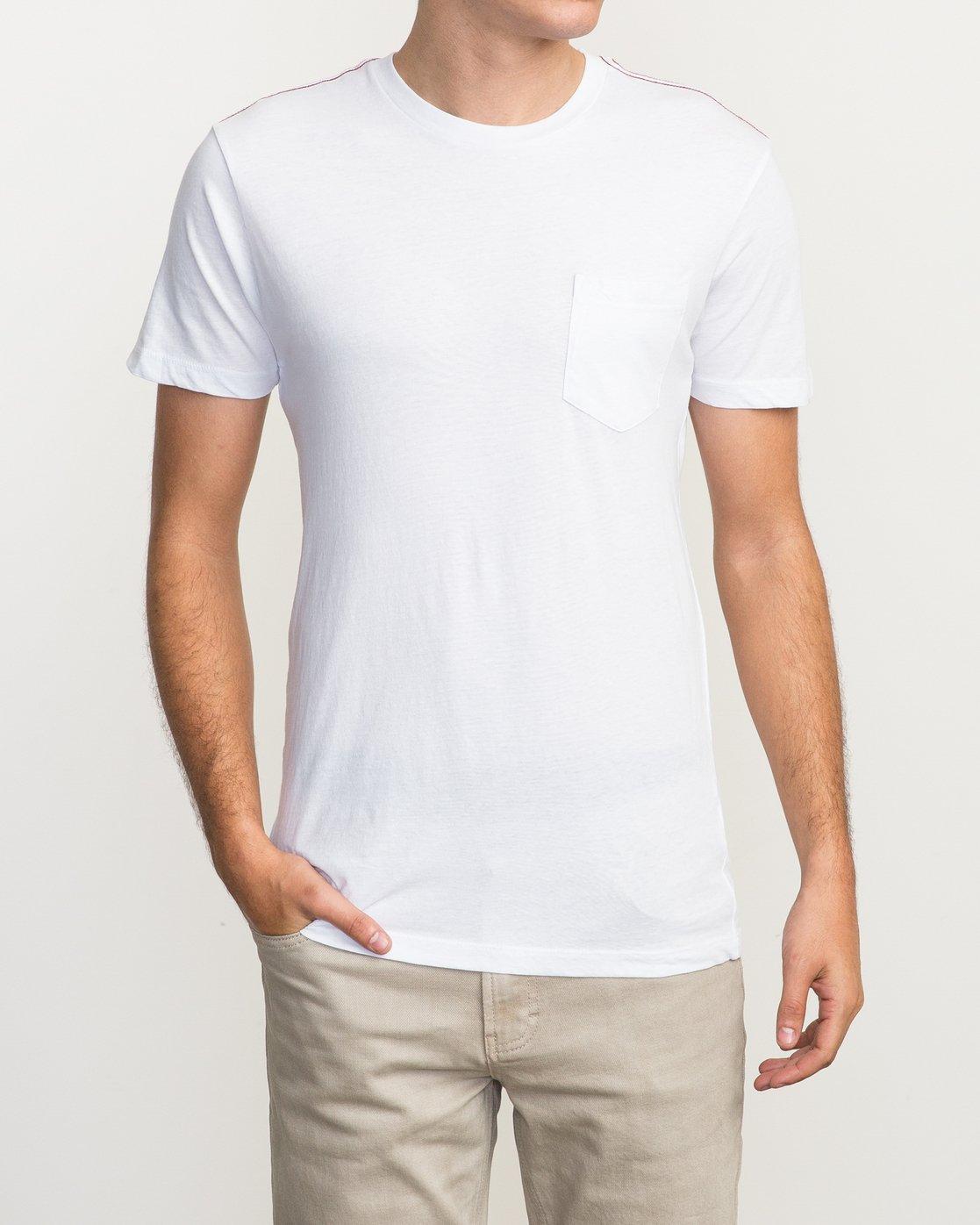 1 PTC 2 T-Shirt White M5912PTC RVCA