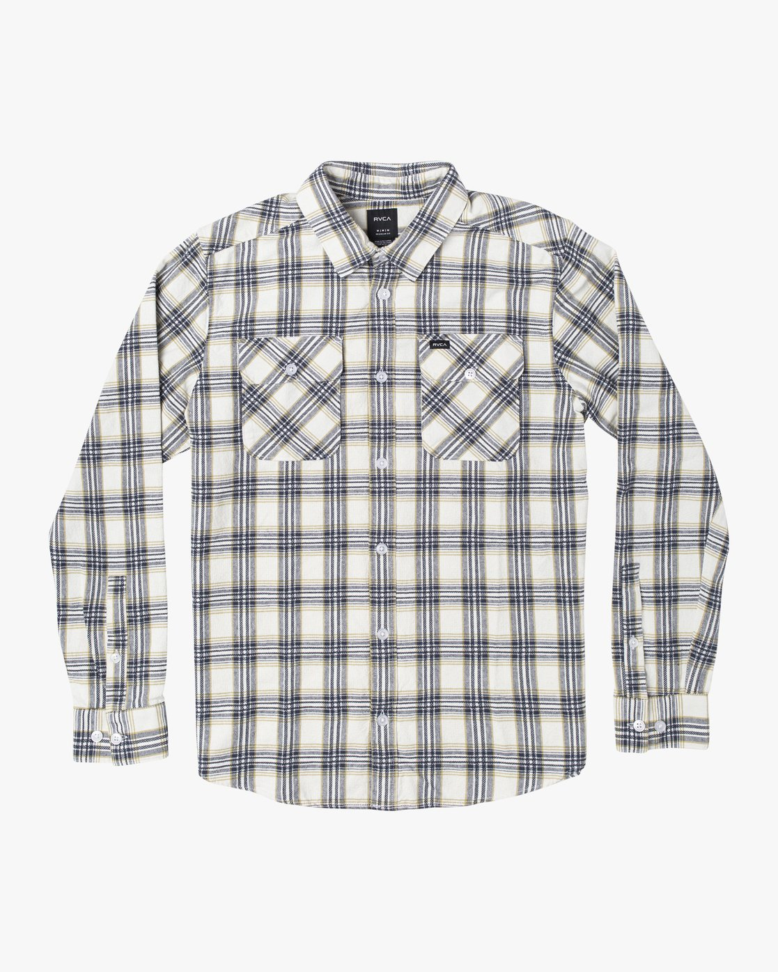 0 THATLL WORK FLANNEL LONG SLEEVE SHIRT White M5993RTW RVCA
