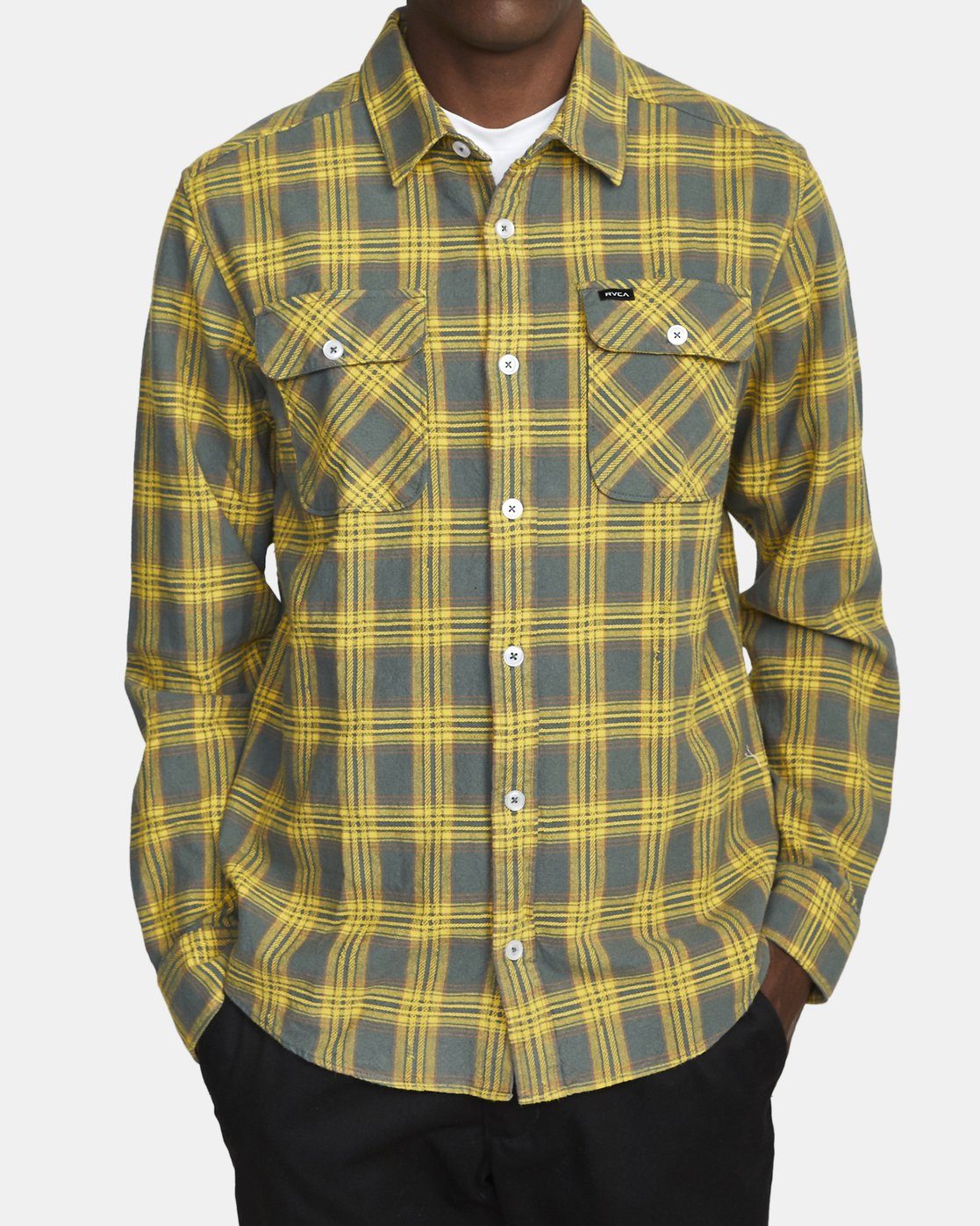 1 THATLL WORK FLANNEL LONG SLEEVE SHIRT Purple M5993RTW RVCA