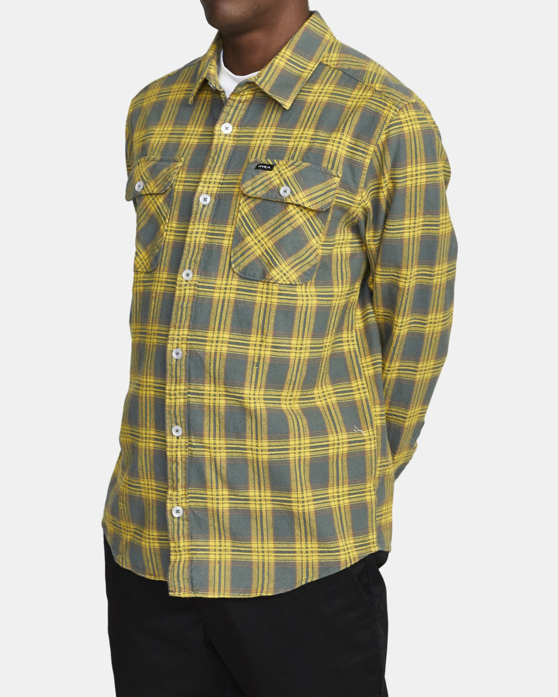 2 THATLL WORK FLANNEL LONG SLEEVE SHIRT Purple M5993RTW RVCA