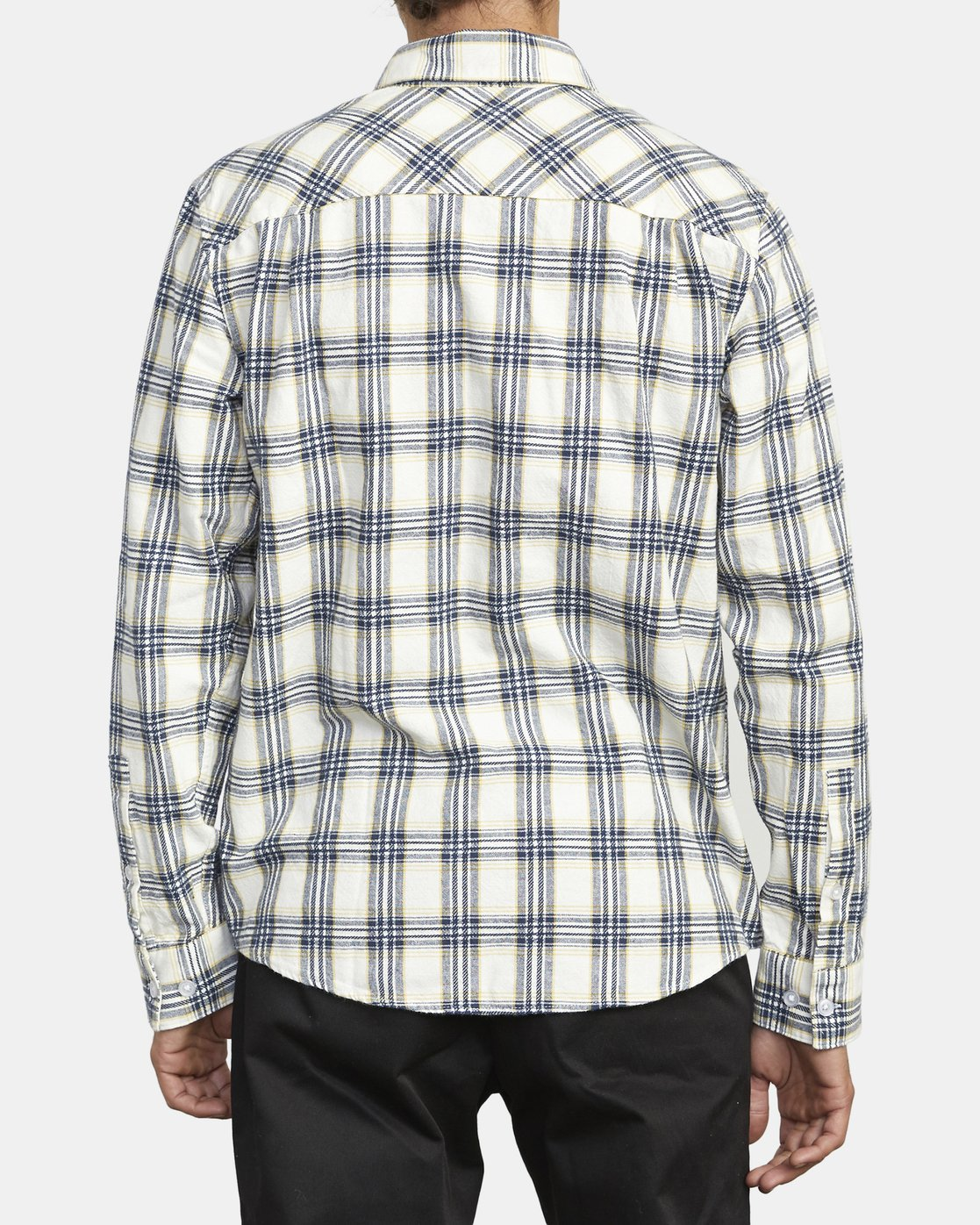 2 THATLL WORK FLANNEL LONG SLEEVE SHIRT White M5993RTW RVCA