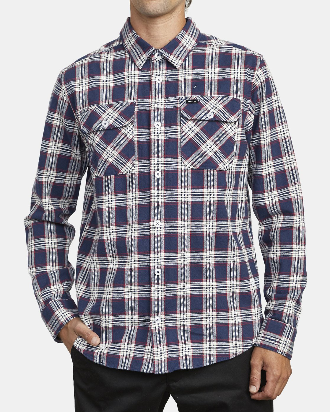 1 THATLL WORK FLANNEL LONG SLEEVE SHIRT Blue M5993RTW RVCA
