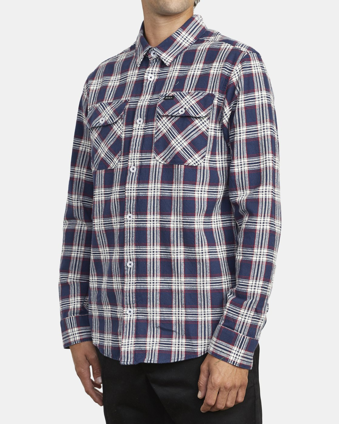 4 THATLL WORK FLANNEL LONG SLEEVE SHIRT Blue M5993RTW RVCA