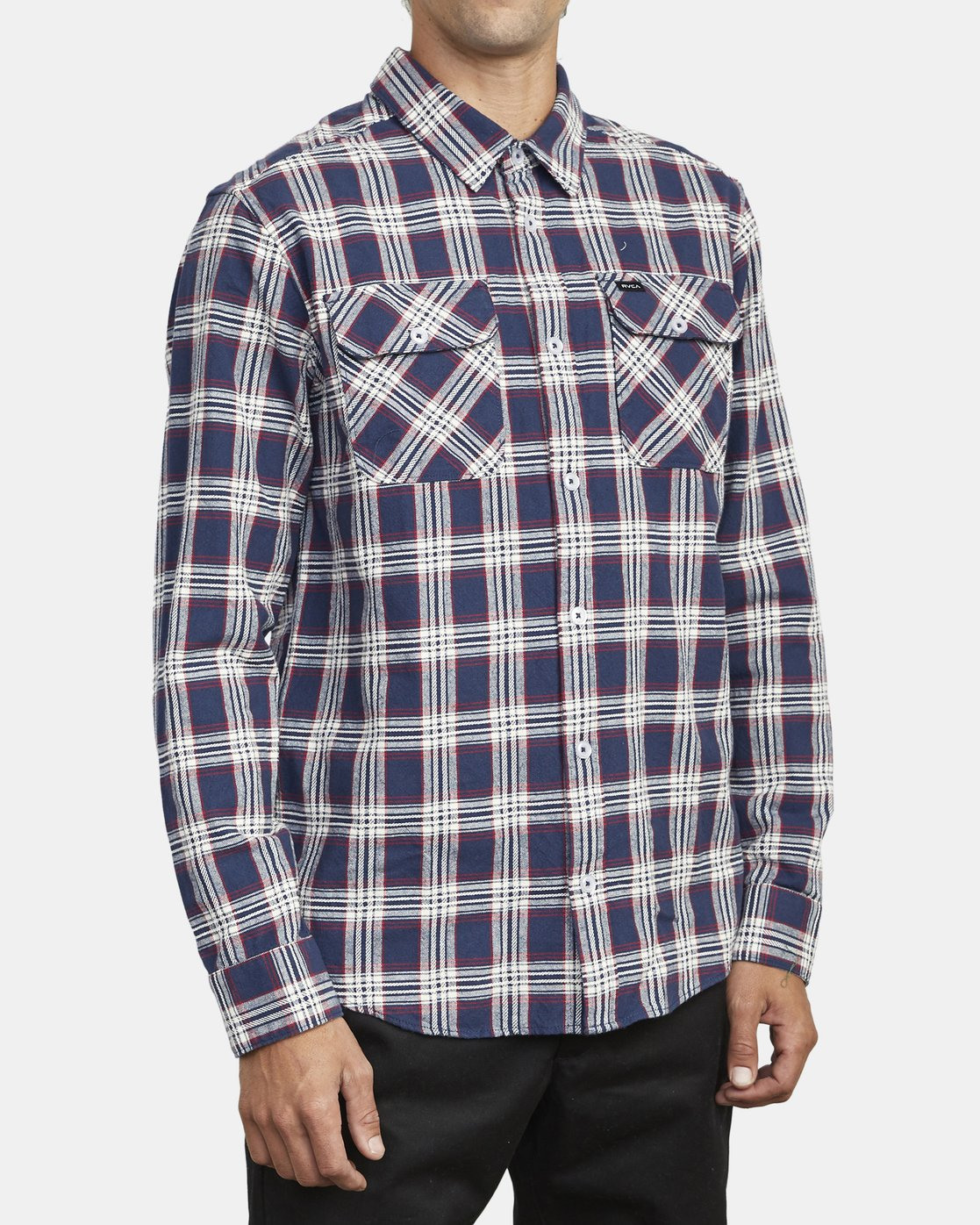 5 THATLL WORK FLANNEL LONG SLEEVE SHIRT Blue M5993RTW RVCA