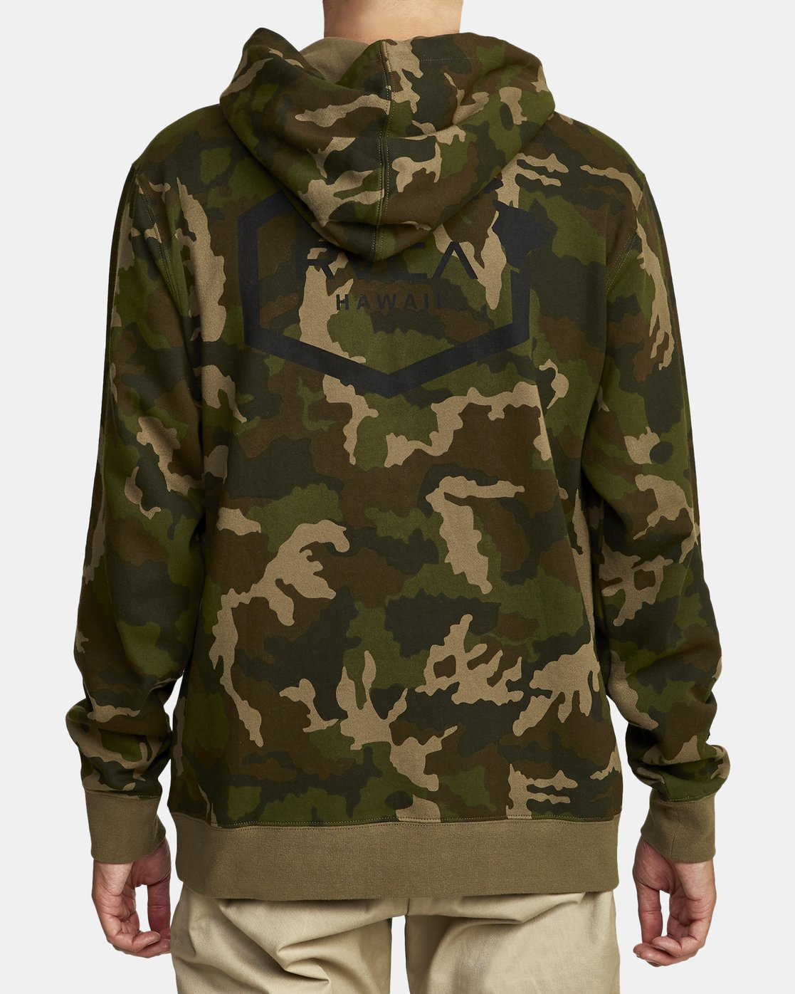 3 BOAR HUNT CAM FLEECE Brown M6022RBO RVCA