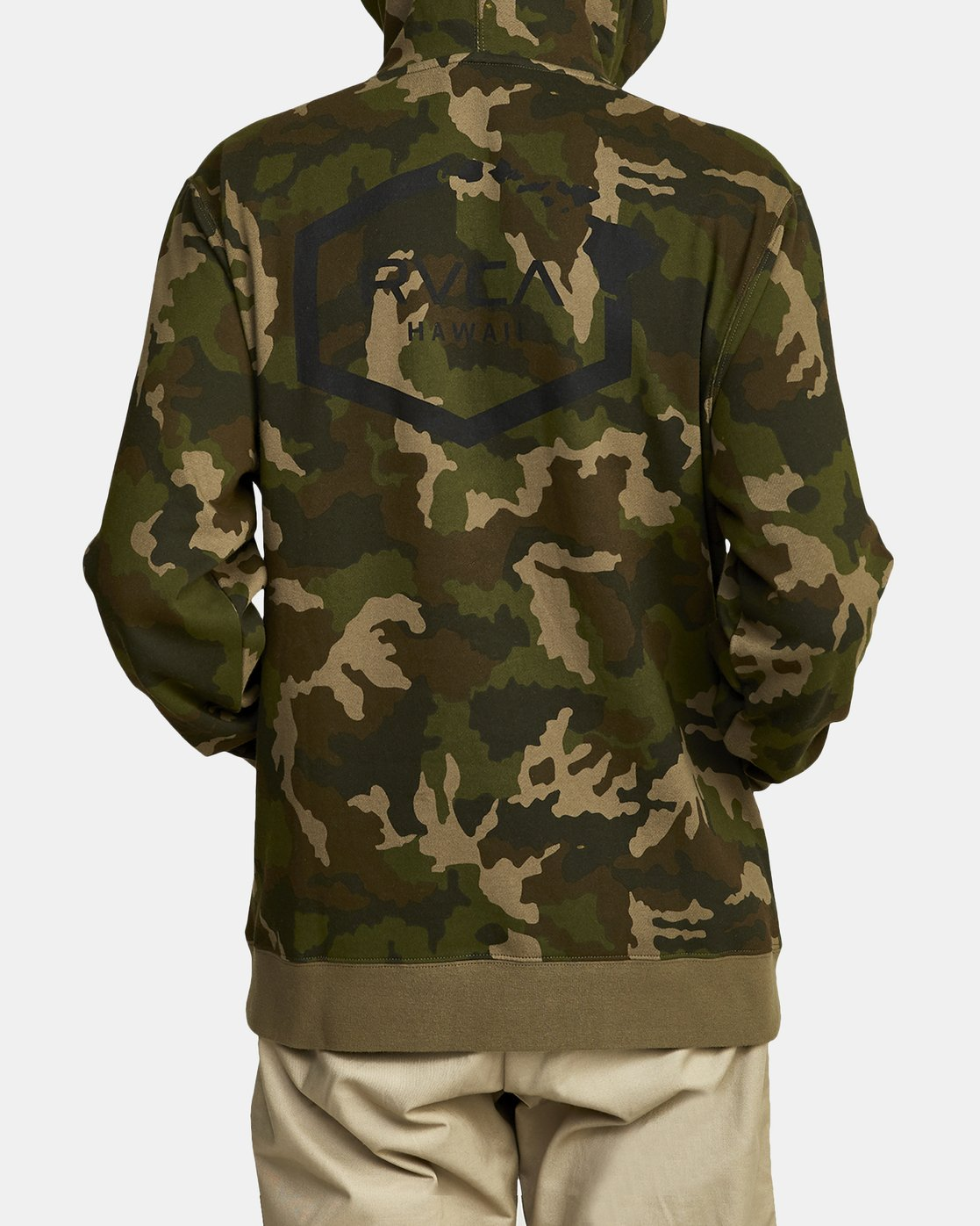 4 BOAR HUNT CAM FLEECE Brown M6022RBO RVCA