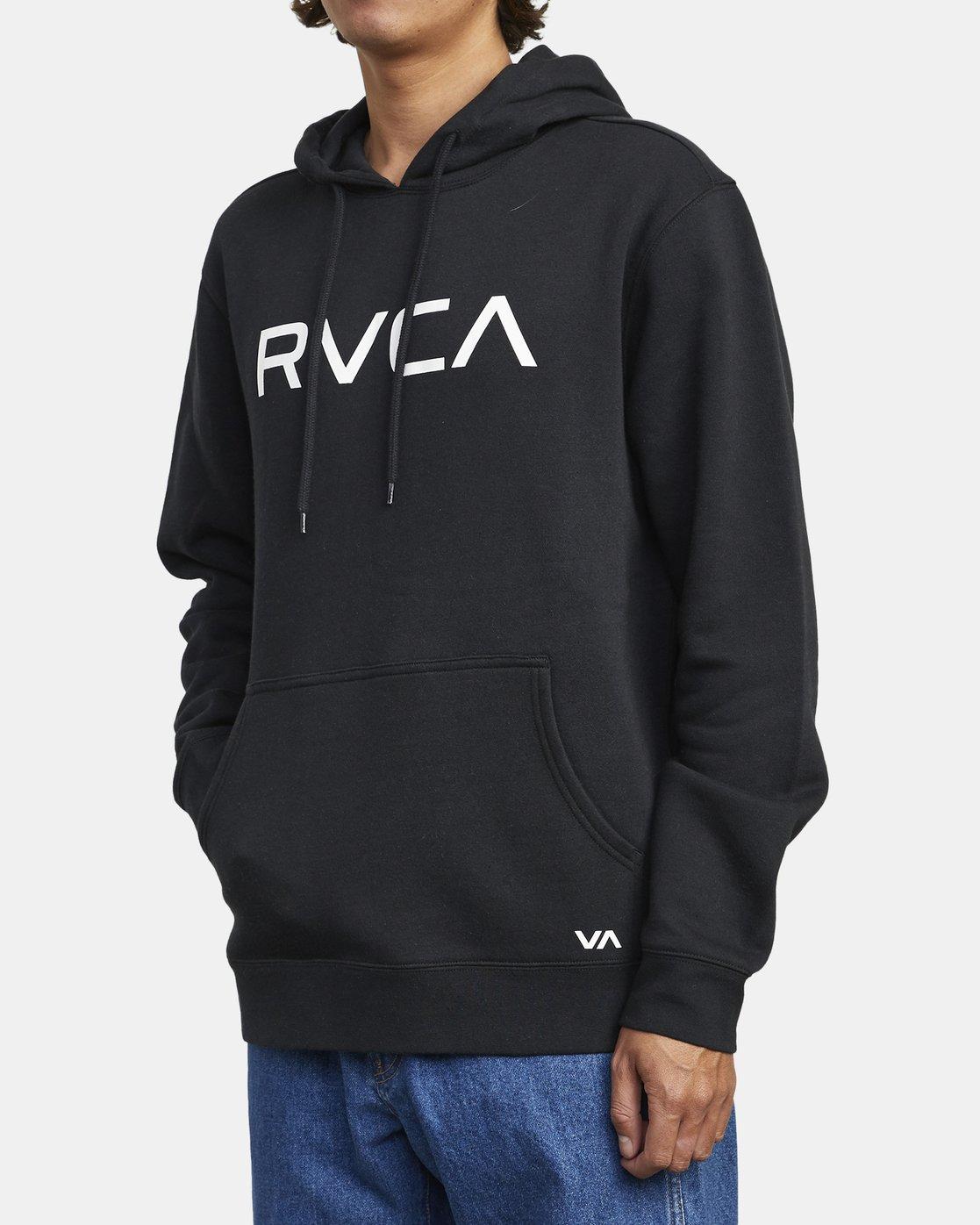 2 BIG RVCA HOODIE Black M6023RBR RVCA