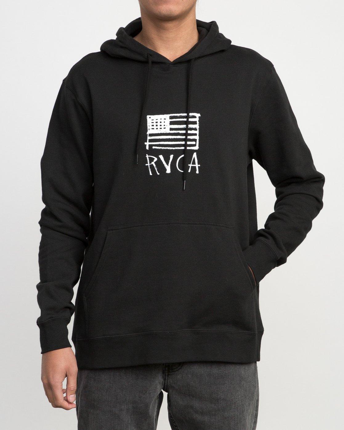 1 Horton Flag Fleece Hoodie Black M602PRHO RVCA