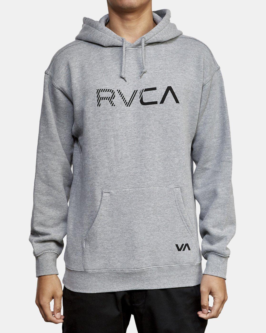 1 BIG RVCA HOODIE Grey M602WRBR RVCA