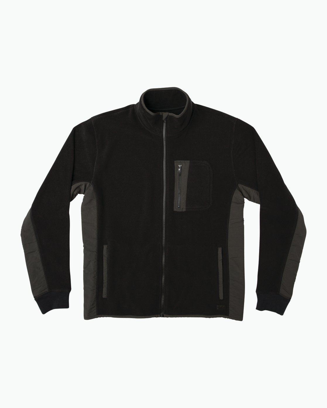 0 Theros Zip Polar Fleece Jacket Black M604SRTH RVCA