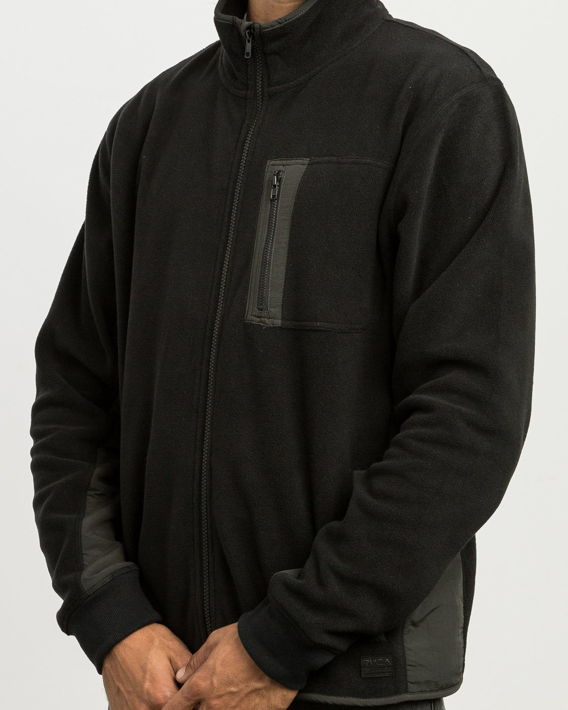 6 Theros Zip Polar Fleece Jacket Black M604SRTH RVCA