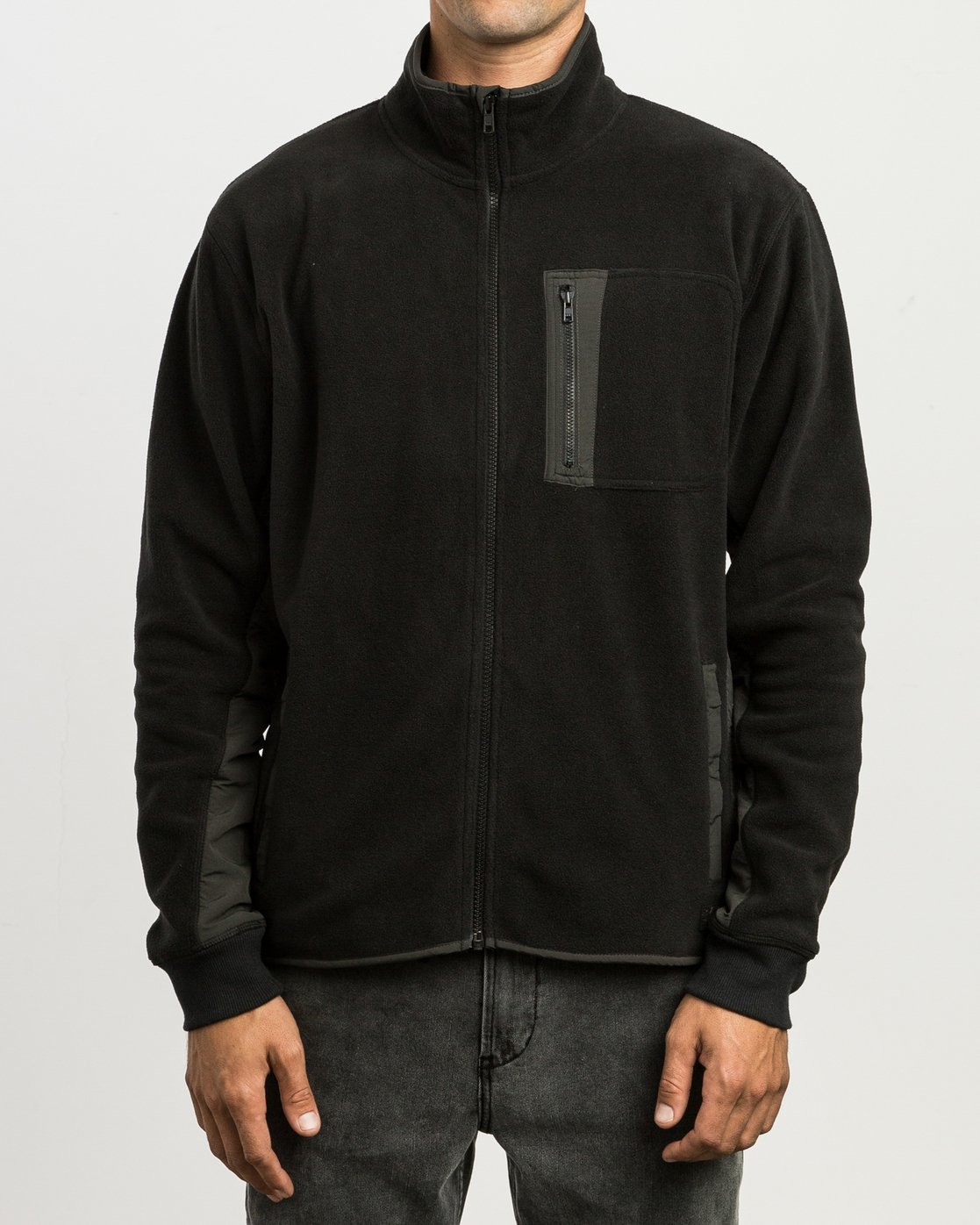 2 Theros Zip Polar Fleece Jacket Black M604SRTH RVCA